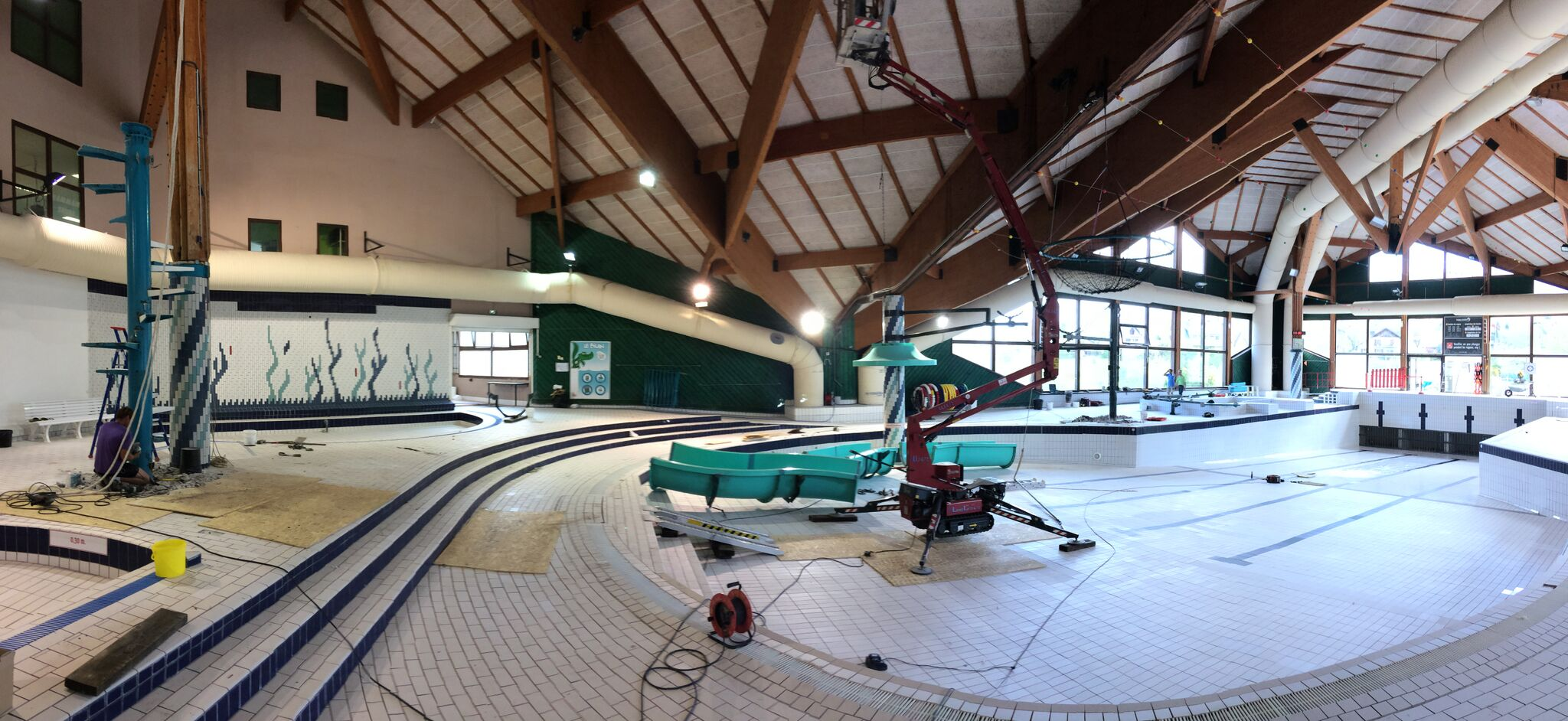 R novation du toboggan du centre aquatique marcel bonnard - Piscine villard de lans ...